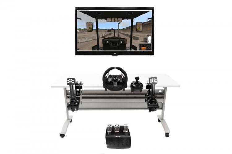 Heavy Equipment Simulator Controls